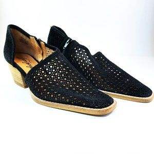 FREE PEOPLE PANDORA PERFORATED SUEDE SHOE BOOTIE